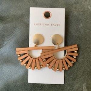 NWT American Eagle Wood and Metal Earrings